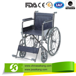 Economy European Style Wheelchair with Big Wheels pictures & photos