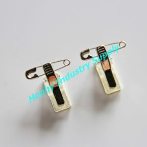 High Quality Adhesive Metal Badge Clip with Safety Pin (P170102A) pictures & photos