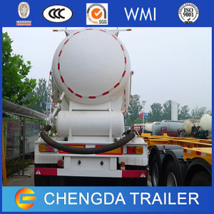 3axles 60t Engine Compressor Powder Bulk Cement Tank Semi Trailer pictures & photos