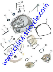 Spare Parts of Crankcase Cover of Tricycle Engine (SP-SP-12) pictures & photos