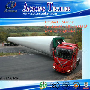Extendable Low Bed Semi Trailer/Wind Blade Transport Truck Trailer pictures & photos