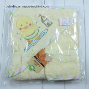Cotton Hooded Bath Towel and Wash Cloth Set pictures & photos