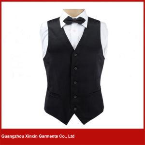 Guangzhou Factory Custom Cheap Hotel Restaurant Waiter Black Vest (V14) pictures & photos