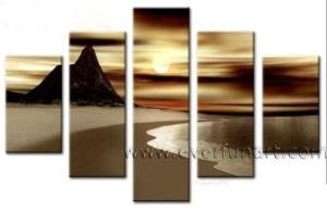 Handpainted Seascape Canvas Art Sunset Landscape Oil Painting (LA5-069) pictures & photos