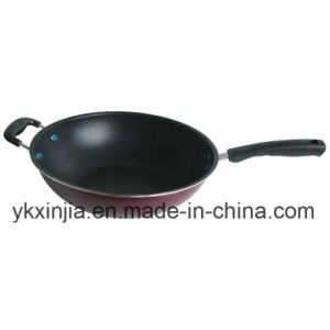 Kitchenware Carbon Steel Non-Stick Wok with Two Handles Cookware pictures & photos