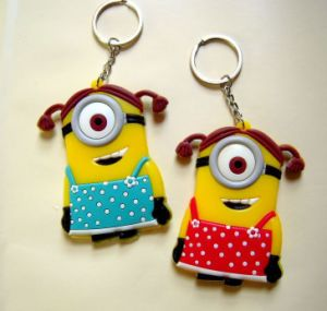 Promotional Products Customize Silicone Keyrings From Supplier pictures & photos