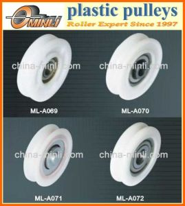 White Nylon Wheel Roller Pulley pictures & photos