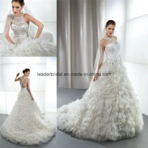 Organza Bridal Ball Gowns Luxury Wedding Dresses Z5045 pictures & photos