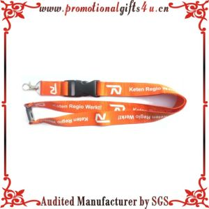 Printed Polyester Lanyards with Metal Hook and Plastick Buckle