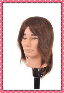 Brown Color Brazilian Hair Training Head 14inches for Style Training pictures & photos