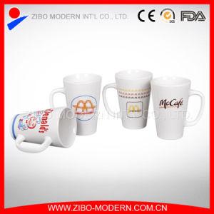 White V-Shape Mug with Imprint Logo pictures & photos
