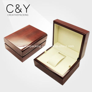 High Gloss Single Watch Wooden Packaging Box pictures & photos