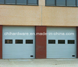 Full Vision Panel Industrial Door/Sectional Overhead Door/Automatic Overhead Door pictures & photos