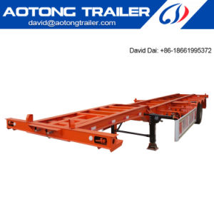 China Manufacturers of 40FT Container Chassis and 40FT Skeleton Container Semi Trailer on Sale Dai pictures & photos