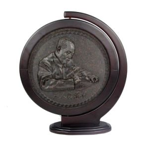 Chairman Mao′s Portrait Pattern Cake of Hunan Dark Tea pictures & photos