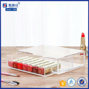 5 Drawers Clear Wholesale Acrylic Cosmetics Makeup Organizer with Drawers pictures & photos