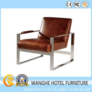 Australia Modern Genuine Leather Sofa Dining Room Leisure Chair pictures & photos