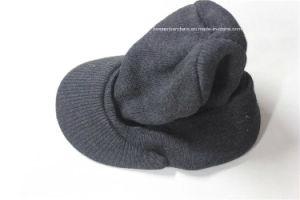Custom Produce Solid Color Gray Acrylic Winter Visor Beanie pictures & photos
