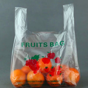 Hot Sale Safety T-Shirt Plastic Bag for Fruit Packing