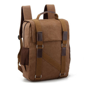 Leisure and Modern Design Laptop Backpack Canvas School Bag pictures & photos