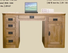 Solid Oak Wooden Furniture-Computer Desk
