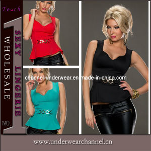 Wholesale Peplum Fashion Lady Tank Tops (T25180) pictures & photos