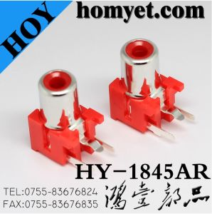 AV Ports/AV Jack/RCA Connector/RCA Plug with Silvering in Red Jack (HY-1845AR) pictures & photos
