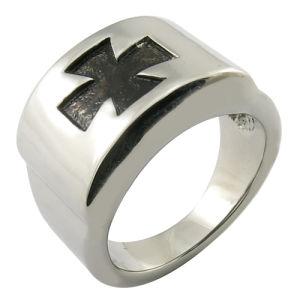 Mens Stainless Steel Signet Ring pictures & photos