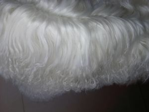 Luxury Genuine Mongolian Pelt Throw Rug Long Curly Wool pictures & photos
