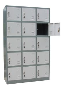 Wholesale 15 Colorful Door Cheap Modern Gym Metal Steel Locker pictures & photos