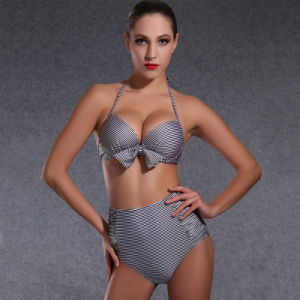Grey Cheap Wholesale Plus Size OEM Custom Summer Bikini pictures & photos