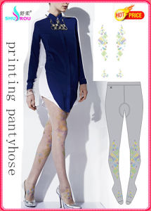 Fashion Sexy Trans-Printing Colorful Tights Pantyhose Silk Socks Stockings for Women (SR-1287)