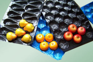 Walmart&Kroger&Costco Fresh Fruit Display Black Vacuum Formed Plastic Fruit Tray pictures & photos
