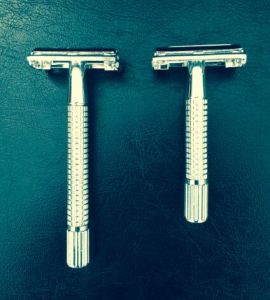 Heavy and Long Handle Safety Metal Razor and Especially Design