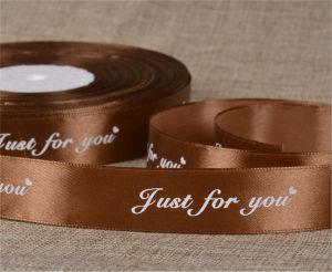 Woven Edge Custom Logo Designs Printed Satin Ribbon pictures & photos