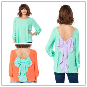 2014 Models of Fabric Blouses for Women /Lady Blouse (Hsm354)