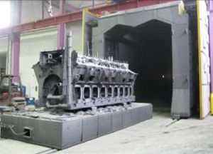 Bogie Work Cars Type Shot Blasting Machine