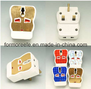 EU Us BS to British Standard Neon ABS White 13A Universal Travel Smart Adapter Plug pictures & photos