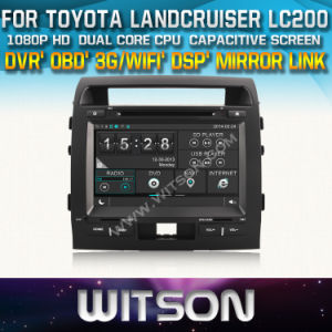 Witson Car DVD for Toyota Land Cruiser 200 Car DVD GPS 1080P DSP Capactive Screen WiFi 3G Front DVR Camera pictures & photos