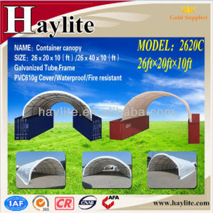 Factory Manufactured Steel Frame PVC Cover Container Canopy pictures & photos