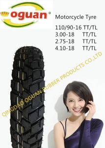 Factory Direct Sale High Quality Motorcycle Vacuum Tyre of 410-18 pictures & photos