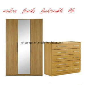 China Manufacturer Wood Effect Closet Wardrobe Cabinet Sets pictures & photos