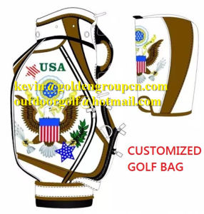 Crocodile Leather Golf Caddy Bags Men Fashion Golf Bags Customized Golf Bag pictures & photos