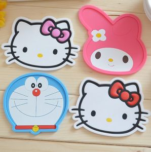 Beautiful Sakura Shape Silicone Cup Mat pictures & photos