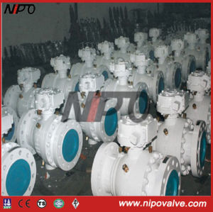 Cast Steel Flanged Trunnion Ball Valve (Q347F) pictures & photos