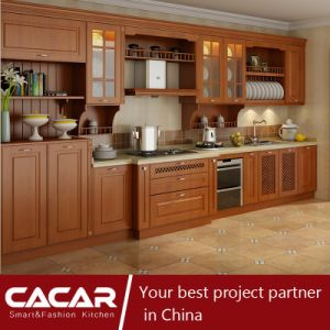 Edinburgh Classical Linear Style Plastic Uptake PVC Kitchen Cabinet (CA15-04) pictures & photos