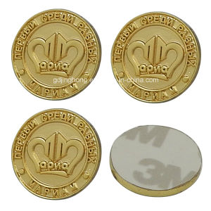 Custom Diecasting Metal Coin with 3m Self-Adhesive Tape Back pictures & photos
