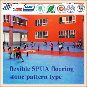 Economical Spua Polyruea Flooring with Durable Performance for Schools pictures & photos