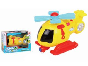 Hot Selling B/O Cartoon Helicopter with Light and Music pictures & photos