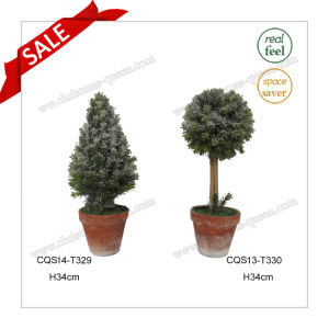 H34cm Plastic Artificial Flower Pot Plant for Garden Decoration pictures & photos